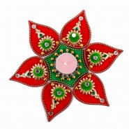 Royal Rangoli of Small Bells and Mirror studded with Mini Pompom Design