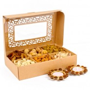 Assorted Dryfruit with Rudraksha Diya