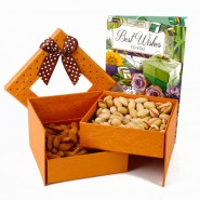 Assorted Dryfruit with Best wishes Greeting Card