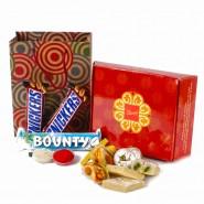 Bhai Dhooj Chocolate and Sweets Hamper with Tikka