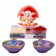 Shell Covered Ganesha Idol