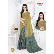 Light Greencotton printed saree