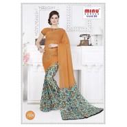 Orangecotton printed saree