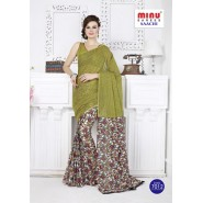 Greencotton printed saree