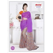 Pinkcotton printed saree