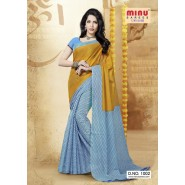 Blue & YellowCotton PrintedSarees
