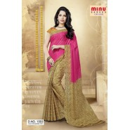 Pink & YellowCotton PrintedSarees