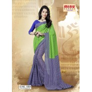 Green & BlueCotton PrintedSarees