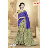 Blue & GreenCotton PrintedSarees