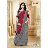 Marron & RedCotton PrintedSarees