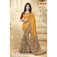 YellowCotton PrintedSarees