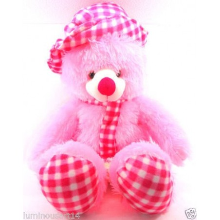 Teddy Bear with Cap - Best Gift for Valentines- Pink, Purple, Yellow, Brown, Red - 140cm