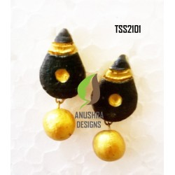 Black GoldTerracotta Jhumka