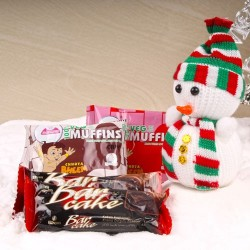 Snowman with Chocolate Bar...