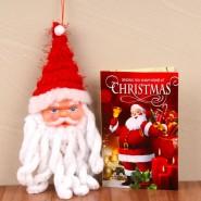Cute Santa Claus Face with Christmas Greeting Card^soft toys^christmas softoys^xmas softtoys^christmas^xmas
