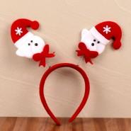 Santa Funny Bunny Hair Band^soft toys^christmas softoys^xmas softtoys^christmas^xmas