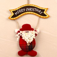 Cute Bunny Hold Merry Christmas Banner^soft toys^christmas softoys^xmas softtoys^christmas^xmas