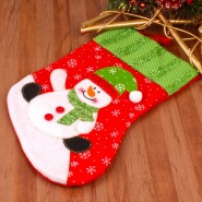 Sweet Snowman Printed Stocking^soft toys^christmas softoys^xmas softtoys^christmas^xmas