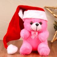 Teddy Soft Toy with Santa Cap^soft toys^christmas softoys^xmas softtoys^christmas^xmas