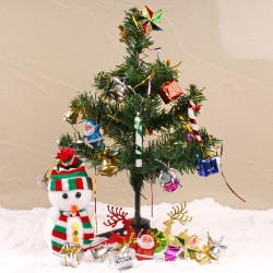 Snowy Christmas Tree with...