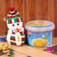 Snowman with Shrewsbury Cookies