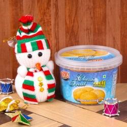 Snowman with Shrewsbury...