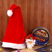 Santa Cap and Bell with Danish Delights Cookies