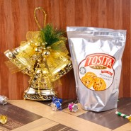 Attractive Christmas Bell with Multigrain Cookies