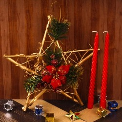 Decorated Star Wreath with...
