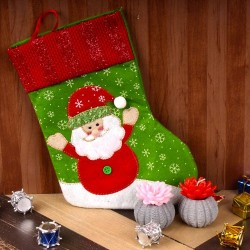 Santa Stocking with Floral...