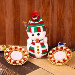 Wollen Snowman with...