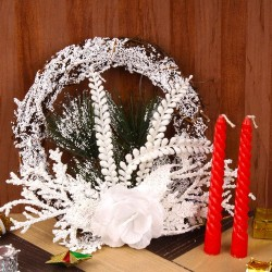 Snow Decorated Wreath with...