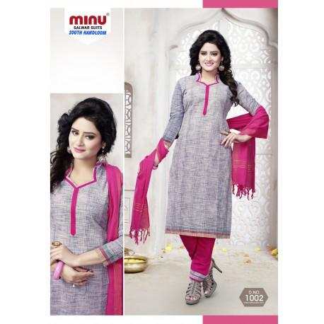 Grey printed salwar