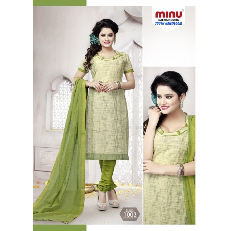 Sea Green printed salwar