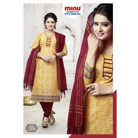 Golden printed salwar