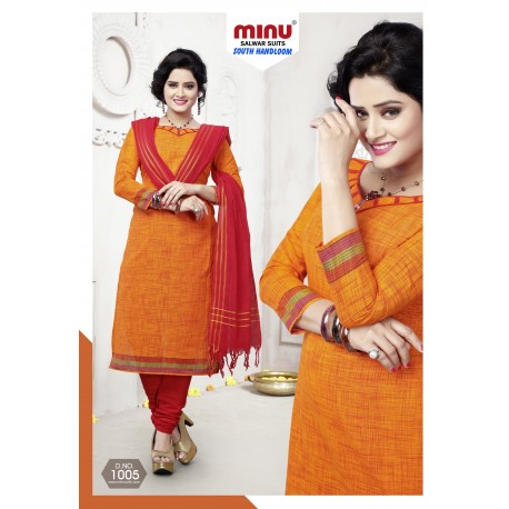 Orange printed salwar