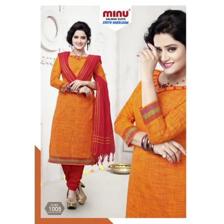Orange printed salwar