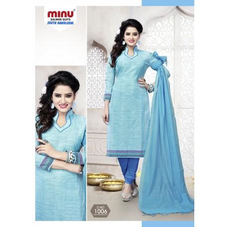 Sky Blue printed salwar