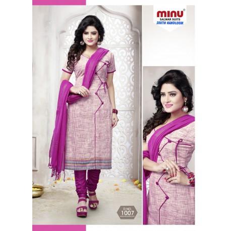 Purple printed salwar