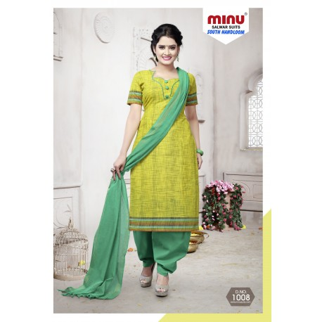 Lime Green printed salwar
