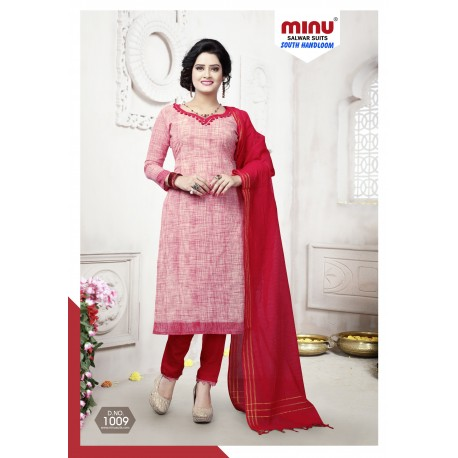 Red printed salwar