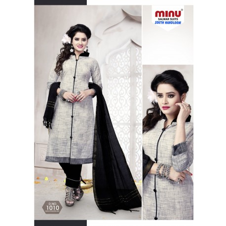 Grey printed salwar