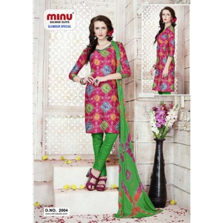 PinkPrinted Salwar