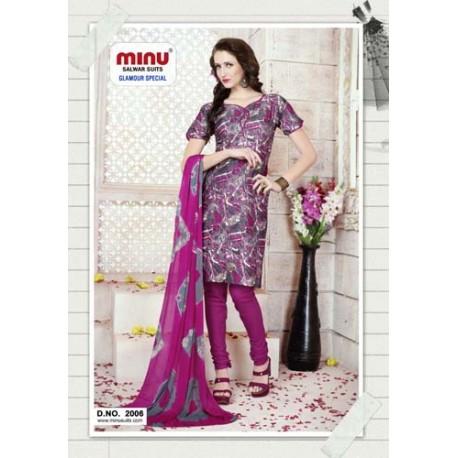 Pink & GreyPrinted Salwar