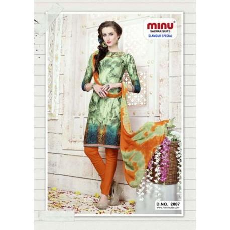 GreenPrinted Salwar