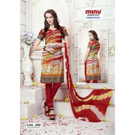 RedPrinted Salwar