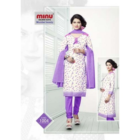 Purple Printed cotton salwar