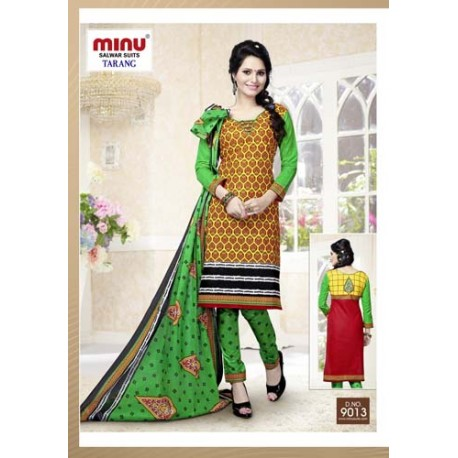 Golden Printed Cotton Salwar