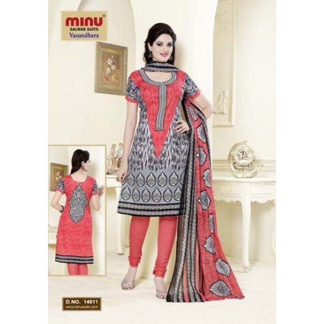 Grey Printed Cotton Salwar