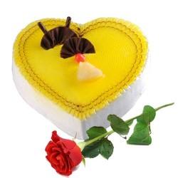 Heart Shape Pineapple Cake...